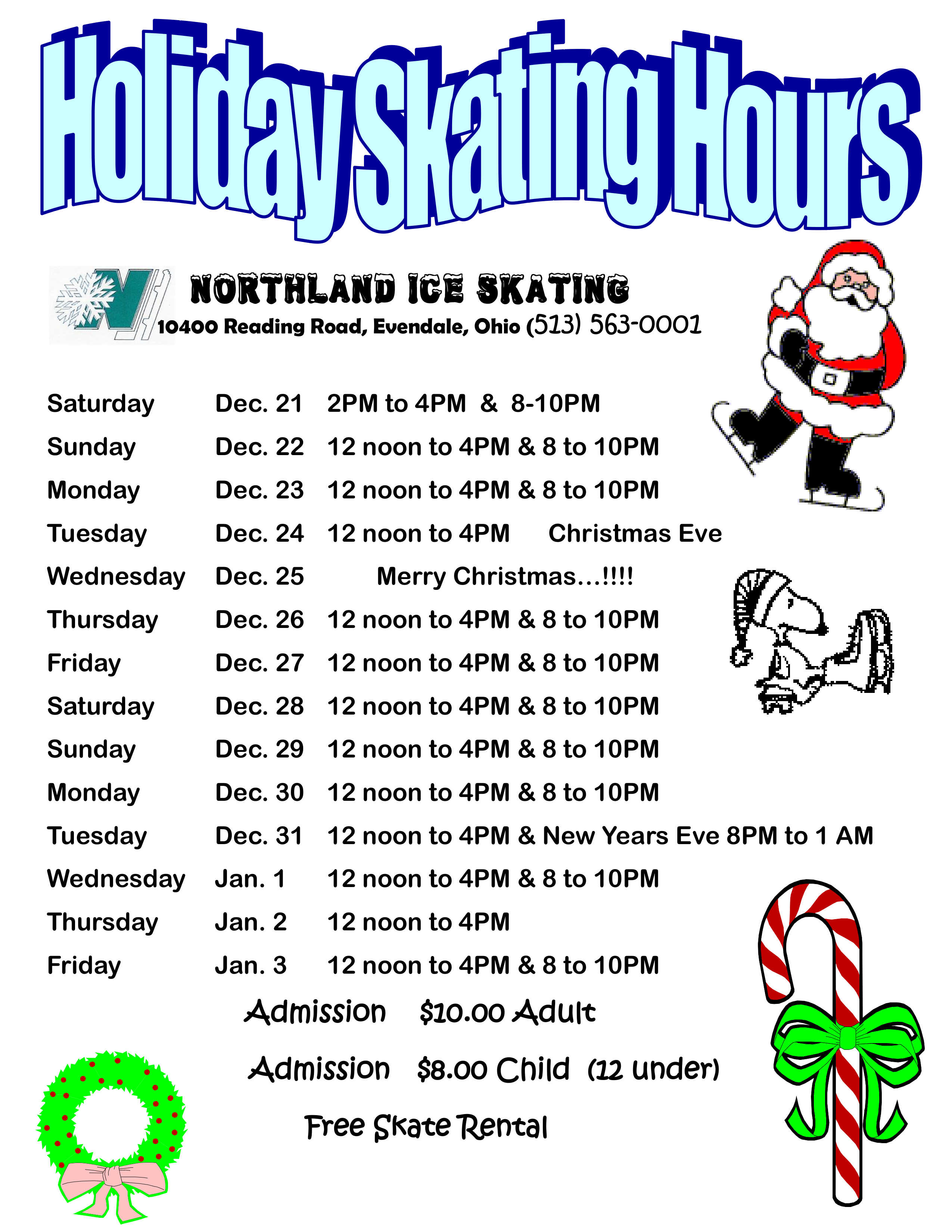 Christmas Schedule 19